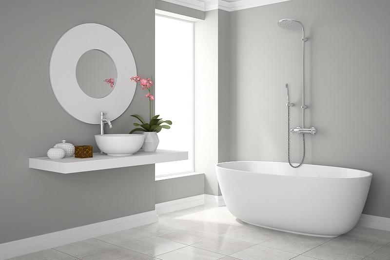 Nowoczesna łazienka w nowym domu